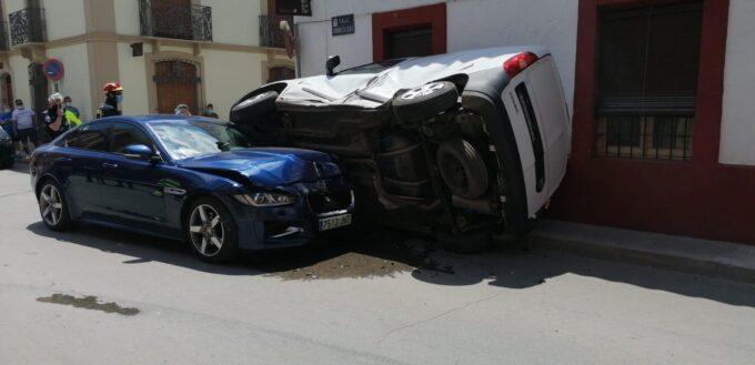 Se desconocen los motivos del accidente acaecido hoy en la  C/ Torrecillas de Valdepeñas