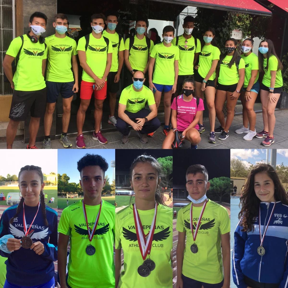 Seis medallas para los atletas del Valdepeñas Athletics Club en la segunda jornada del Campeonato de CLM