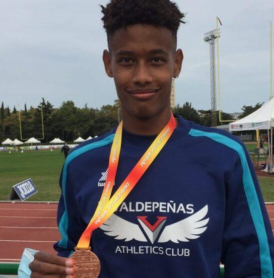 Asabu Pinés, del Valdepeñas Athletics Club, Medalla de Bronce en el Campeonato de España Sub-16