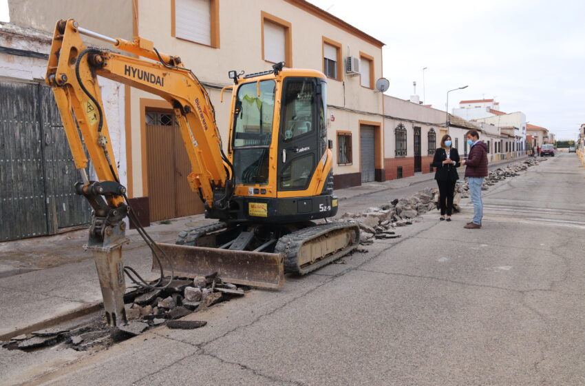 Comienzan las obras en la calle Misericordia de Manzanares