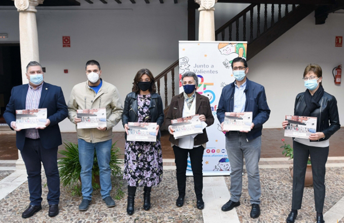 La Diputación colabora en el calendario solidario de AFANION con la impresión de los 4.000 ejemplares que se ponen hoy a la venta
