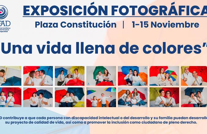 AFAD saca a la calle una exposición fotográfica bajo el título «Una vida llena de colores»