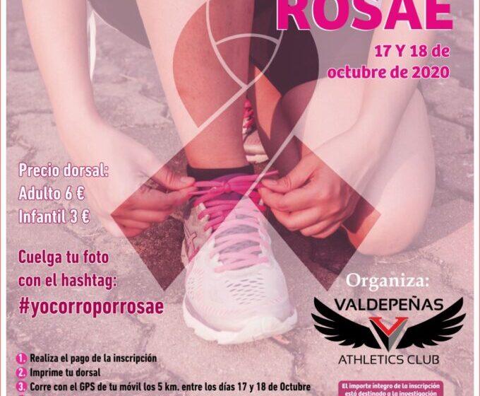 """El """"Valdepeñas Athletics Club"""" organiza la carrera virtual """"Únete al rosa por la detección precoz"""" a beneficio de ROSAE los días 17 y 18 de octubre del 2020"""