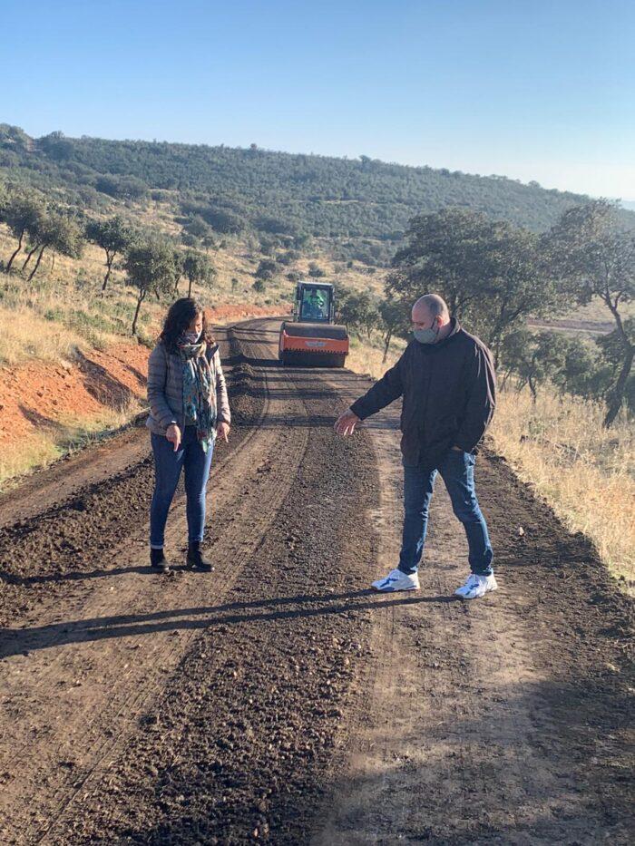 Arreglo de caminos en Calzada de Calatrava