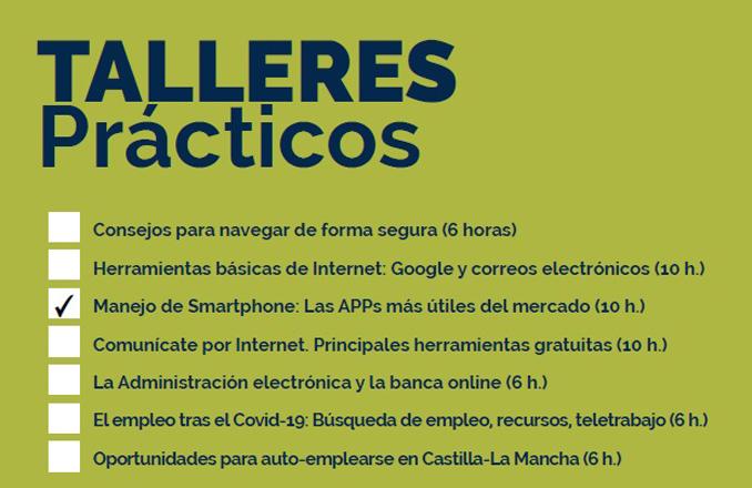 Búsqueda de empleo y manejo de smartphone, nuevas propuestas formativas de CapacitaTIC+55
