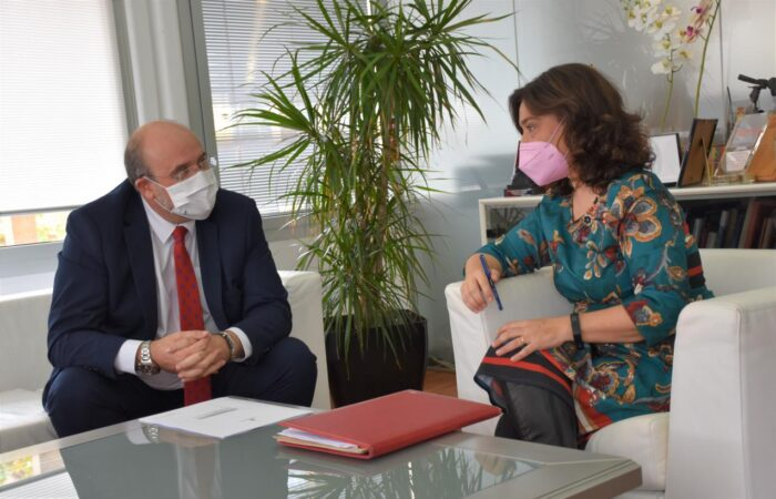 El vicepresidente de Castilla-La Mancha, José Luis Martínez Guijarro, se reúne con la alcaldesa de Ciudad Real, Pilar Zamora