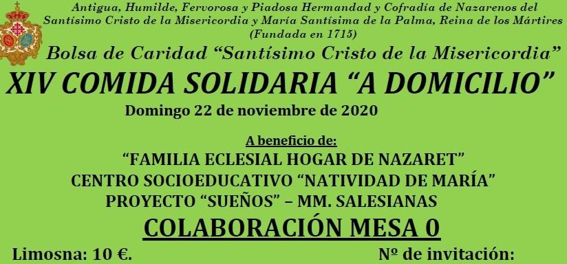 Ya están a la venta las entradas para la XIV Comida Solidaria de la Bolsa de Caridad «Stmo. Cristo de la Misericordia»