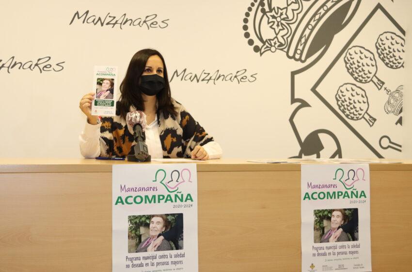 """""""Manzanares acompaña"""", una iniciativa municipal contra la soledad de las personas mayores"""
