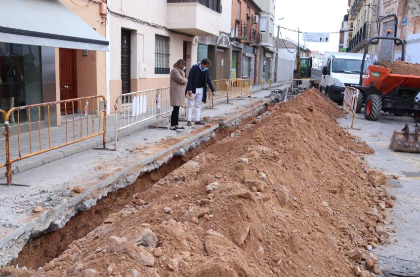En marcha la segunda fase de renovación de la red de abastecimiento de Manzanares