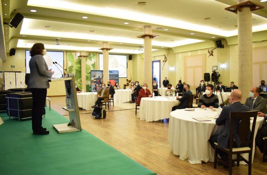 Patricia Franco asiste al encuentro empresarial en torno a los fondos europeos Next Generation que se ha celebrado en Puertollano