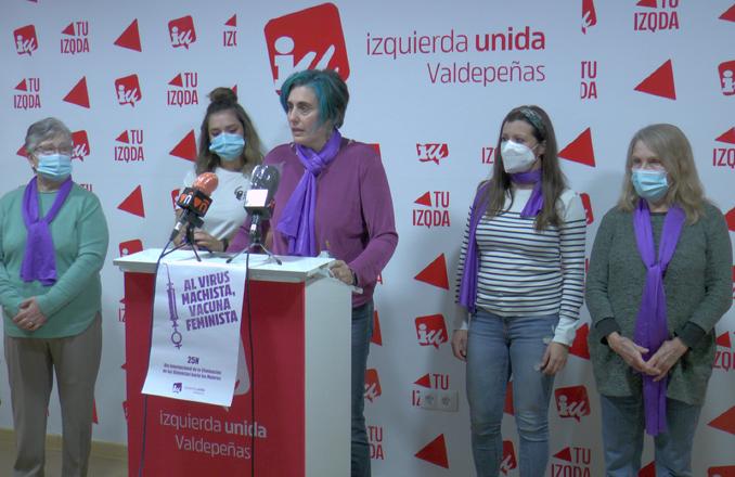 IU Valdepeñas da a conocer su manifiesto con motivo del Día Internacional de la Violencia de Género