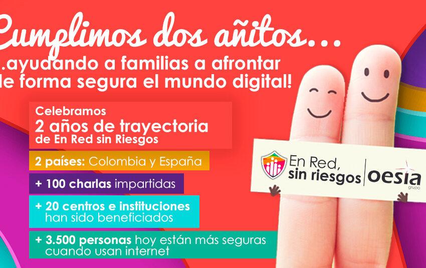 """""""En Red sin Riesgos"""" del Grupo Oesía cumple su segundo aniversario ayudando a las familias a prevenir los peligros de internet"""