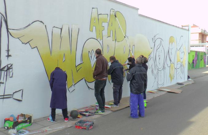 Primeros colores de la Exhibición Mural de Graffiti 'Ciudad de Valdepeñas'