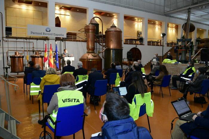 Emiliano García-Page ha inaugurado la ampliación de las instalaciones de Pernod Ricard en Las Labores