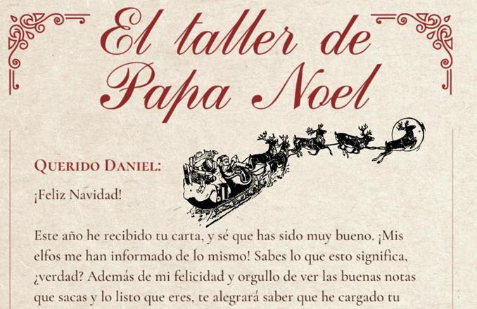 El área de Juventud de Valdepeñas tramita la respuesta de Papá Noel con cartas personalizadas