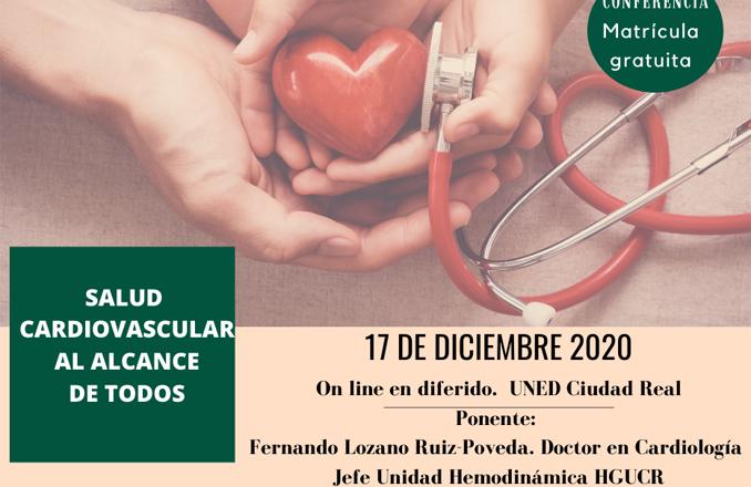 """""""Salud cardiovascular al alcance de todos"""", conferencia online en la UNED, el 17 de diciembre, a cargo de Fernando Lozano Ruíz-Poveda"""