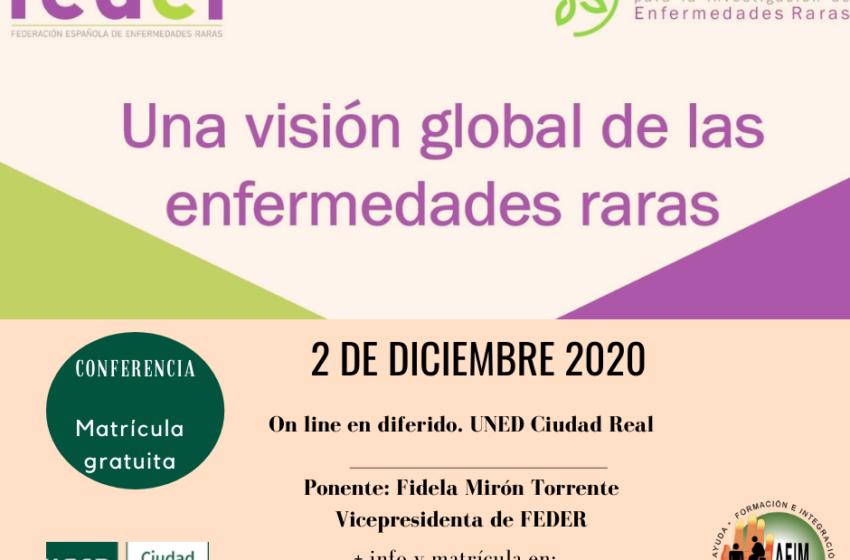"""La UNED de Ciudad Real emitirá On Line, el 2 de diciembre, la conferencia """"Una visión global de las enfermedades raras"""