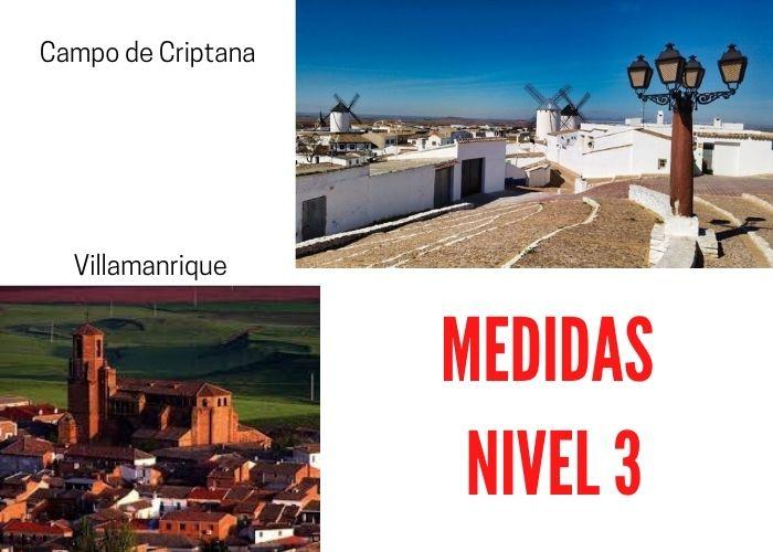 Villamanrique y Campo de Criptana inician medidas especiales nivel 3