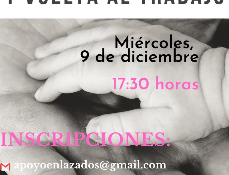 """Enlazados, Grupo de Apoyo a la Lactancia de Valdepeñas organiza la charla on line """"Lactancia y vuelta al trabajo"""""""