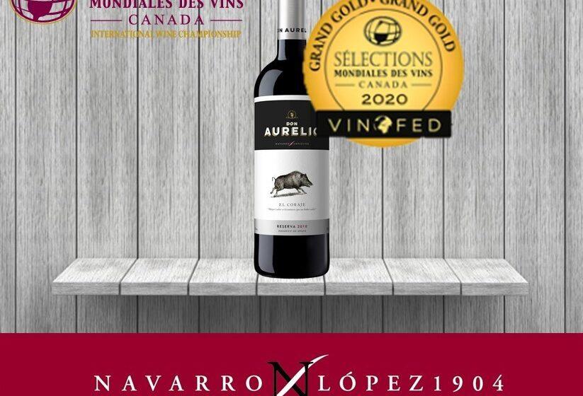 Don Aurelio Reserva, mejor vino español en Canadá