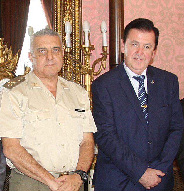 El JEME y Ángel López Sánchez