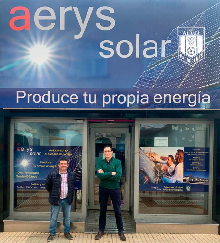 Acuerdo de colaboración del Viña Albali Valdepeñas y Aerys Solar