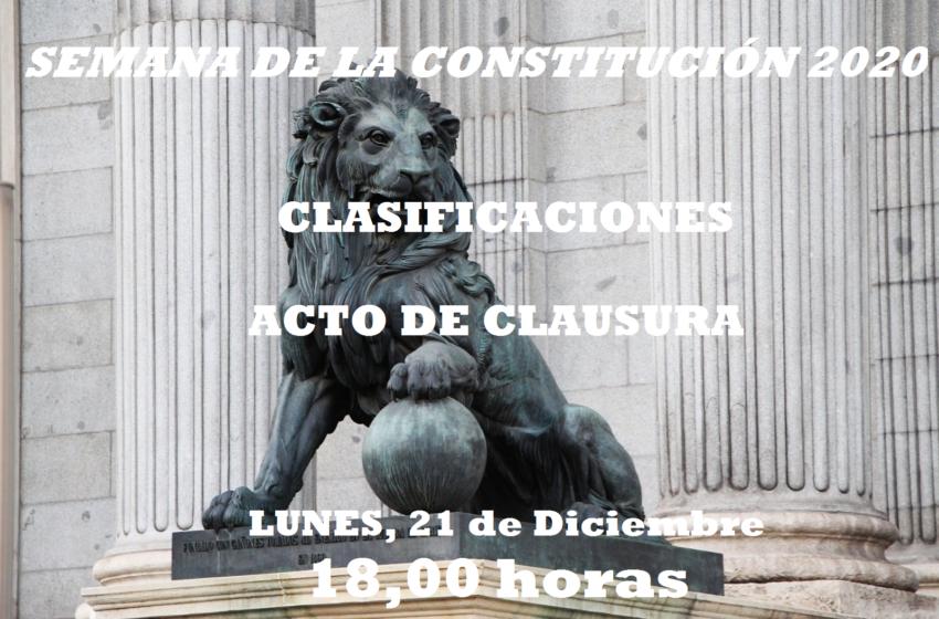 Conclusiones y Clausura de la Semana dedicada a la Constitución en el IES Gregorio Prieto
