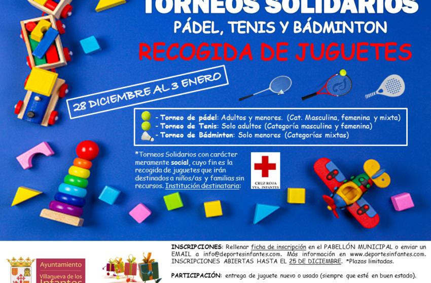 La Concejalía de Deportes  de Villanueva de los Infantes organiza torneos solidarios de pádel, tenis y bádminton durante la Navidad