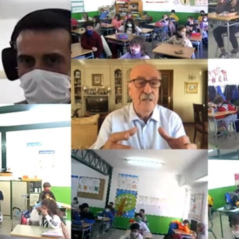Vicente del Bosque colabora con el CEIP Cervantes de Santa Cruz de Mudela en el día de la discapacidad