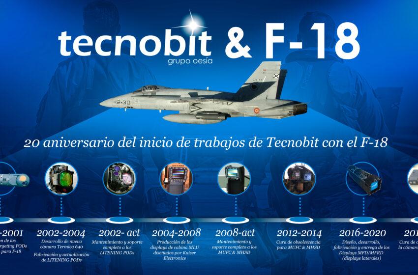 Tecnobit – Grupo Oesía cumple 20 años de trayectoria en los F-18