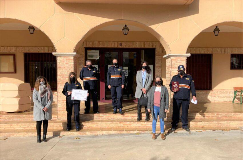 La Agrupación de Voluntarios de Ruidera recibe la Placa de Protección Civil de Castilla-La Mancha concedida por el Gobierno regional