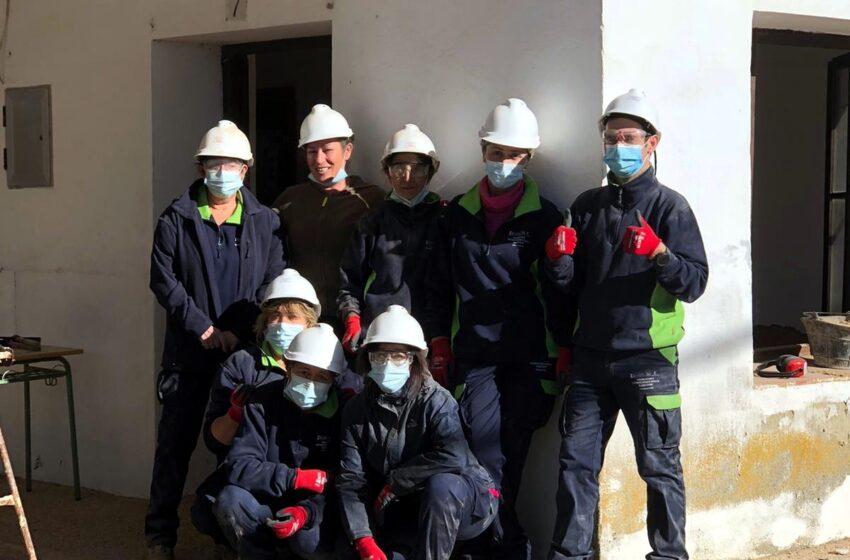 Ocho desempleados participan en un nuevo programa de formación y empleo en Villalba de Calatrava, promovido por Viso del Marqués