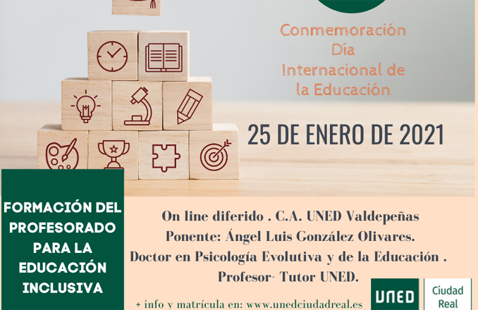 """La UNED propone para el 25 de enero la conferencia """"Formación del profesorado para la educación inclusiva"""", en conmemoración del Día Internacional de la Educación"""