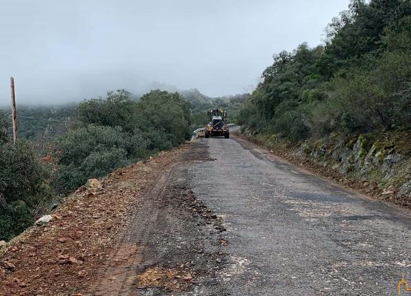 La Diputación comienza las obras del acondicionamiento de la carretera CR-5001 que lleva a Solana del Pino
