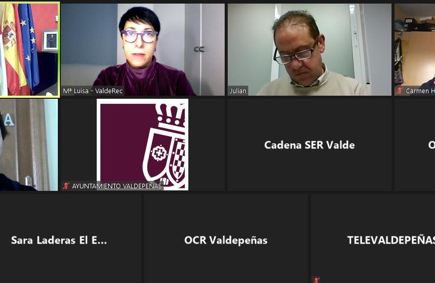 """Jesús Martín mantiene un encuentro telemático con los medios de comunicación: """"Valdepeñas no se ha parado"""""""