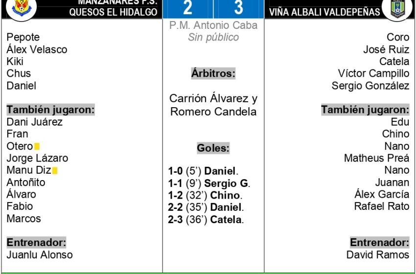 2-3 / Manzanares F.S. Quesos El Hidalgo – Viña Albali Valdepeñas: pasa a la final de la copa JCCM