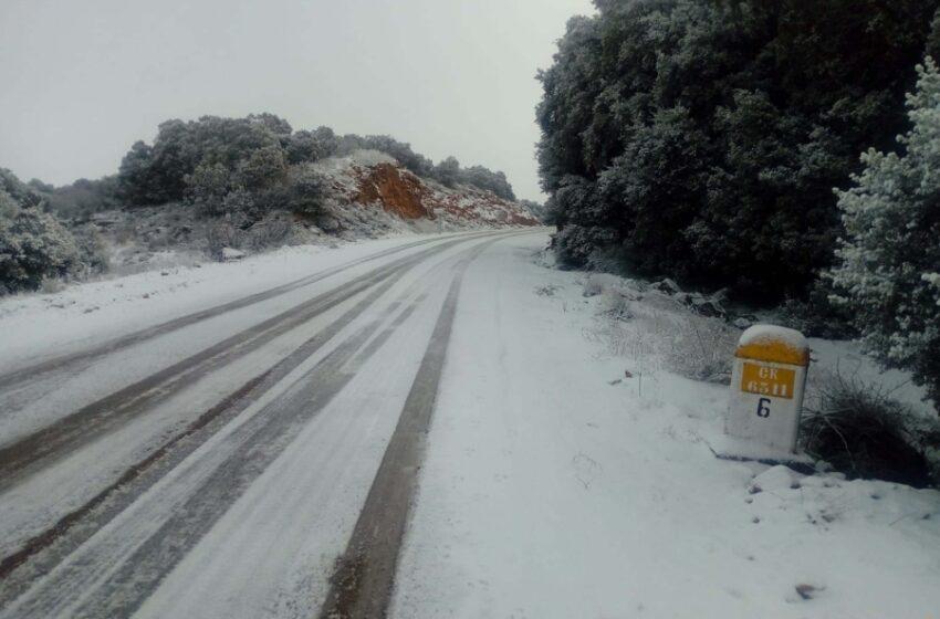 Todas las carreteras regionales de Ciudad Real están transitables con precaución a causa del temporal 'Filomena'