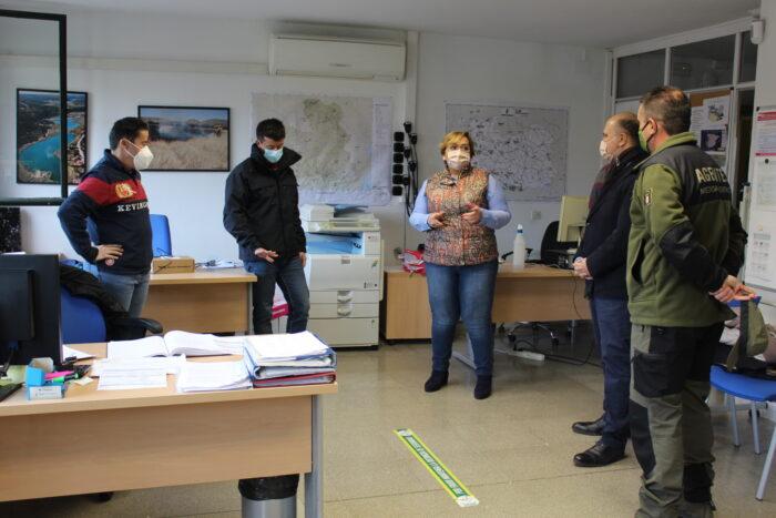 Visita que ha realizado al Centro de Centro de Operaciones Provincial (COP)