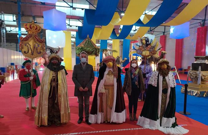Los Reyes Magos llegan a Valdepeñas de manera segura con  una cabalgata estática