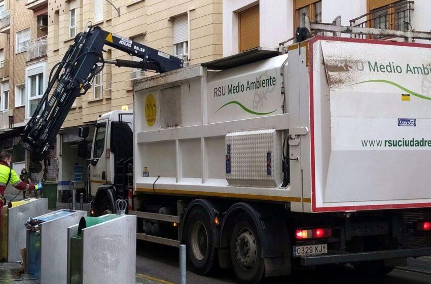Crece la recogida de residuos sólidos urbanos en 2020, en el área del Consorcio de RSU de Ciudad Real