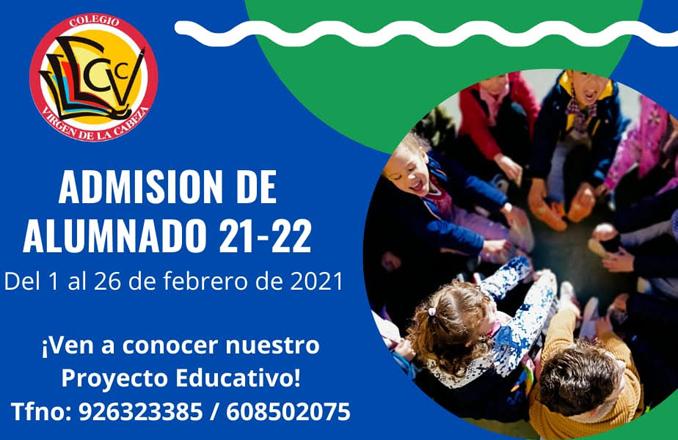 El colegio Virgen de la Cabeza abre el proceso de admisión de alumnado en febrero