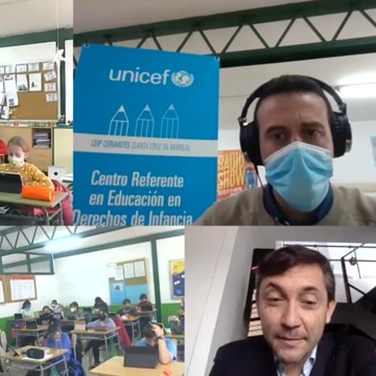 El periodista Javier Ruiz colabora con el Colegio Cervantes de Santa Cruz de Mudela