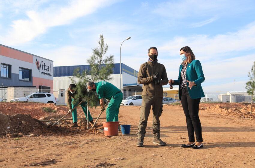Manzanares inicia la recuperación de una de las zonas verdes fundamentales del polígono industrial