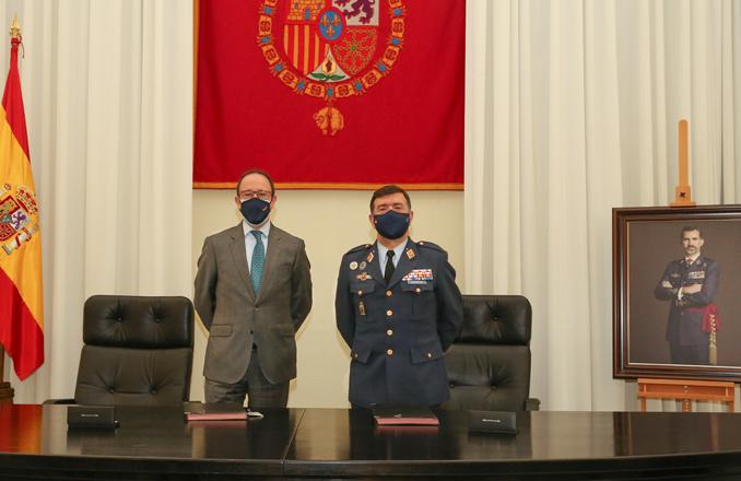 El Ejército del Aire y la empresa Tecnobit-Grupo Oesía firman un protocolo general de actuaciones de colaboración a través del centro logístico de armamento y experimentación (CLAEX)