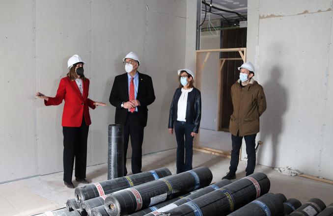 Se instala el aislamiento acústico en la nueva Escuela de Música de Manzanares 'Guillermo Calero'