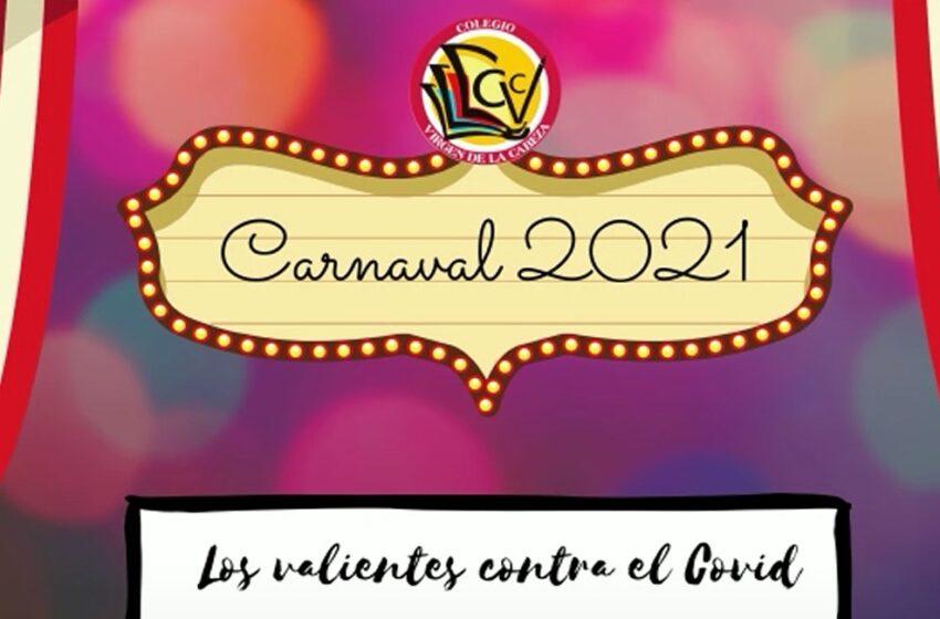 El colegio Virgen de la Cabeza realiza un baile de carnaval en homenaje a todos/as las personas que han trabajado durante la pandemia