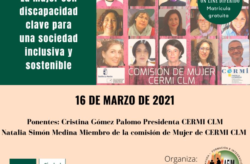 Conferencia telemática sobre la mujer con discapacidad, organizada por Fundación AFIM Valdepeñas junto a Uned Ciudad Real