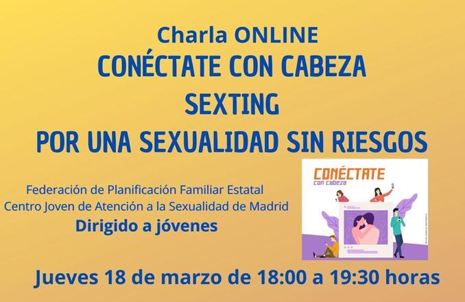 El sexting, protagonista de la próxima charla online del Centro de la Mujer y la Casa de la Juventud de Manzanares