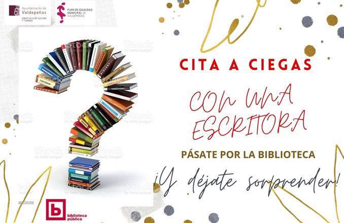 La biblioteca de Valdepeñas propone una 'cita a ciegas' con autoras a través de libros con título oculto