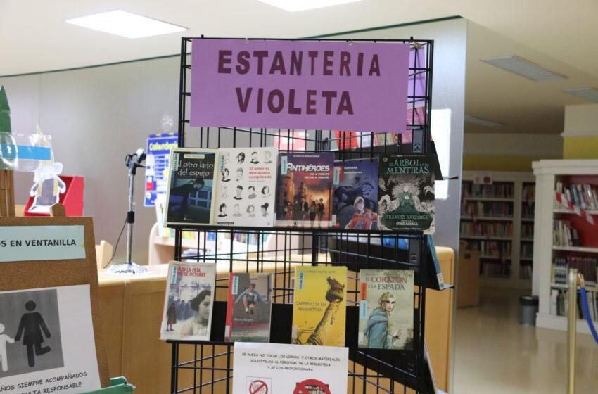 La Biblioteca Pública Municipal  de Manzanares cuenta con la 'Estantería Violeta Juvenil'